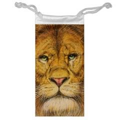 Regal Lion Drawing Jewelry Bags by KentChua