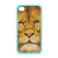 Regal Lion Drawing Apple Iphone 4 Case (color) by KentChua