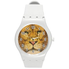 Regal Lion Drawing Round Plastic Sport Watch (M) by KentChua