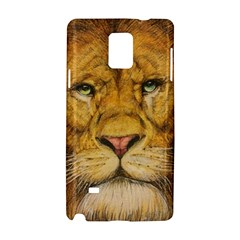 Regal Lion Drawing Samsung Galaxy Note 4 Hardshell Case by KentChua