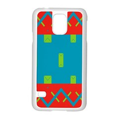 Chevrons And Rectangles 			samsung Galaxy S5 Case (white) by LalyLauraFLM