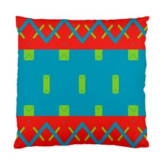 Chevrons And Rectangles 	standard Cushion Case (two Sides) by LalyLauraFLM