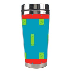 Chevrons And Rectangles Stainless Steel Travel Tumbler by LalyLauraFLM