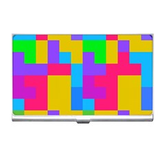Colorful Tetris Shapes business Card Holder by LalyLauraFLM
