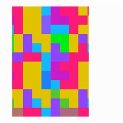 Colorful Tetris Shapes Small Garden Flag by LalyLauraFLM