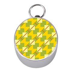 Squares And Stripes 			silver Compass (mini) by LalyLauraFLM