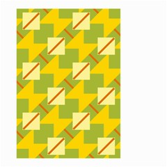 Squares And Stripes Small Garden Flag by LalyLauraFLM