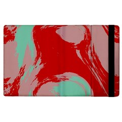 Red Pink Green Texture 			apple Ipad 2 Flip Case by LalyLauraFLM