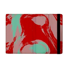 Red Pink Green Texture apple Ipad Mini Flip Case by LalyLauraFLM