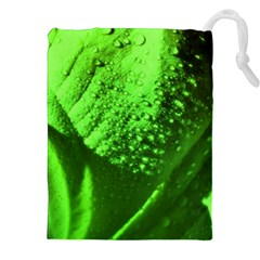 Green And Powerful Drawstring Pouches (xxl) by timelessartoncanvas