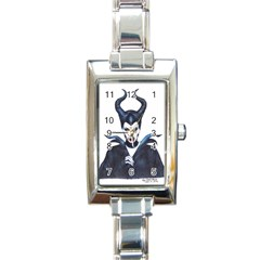 Maleficent Drawing Rectangle Italian Charm Watches by KentChua