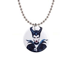 Maleficent Drawing Button Necklaces by KentChua