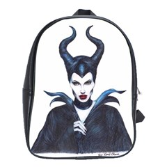 Maleficent Drawing School Bags(large)  by KentChua