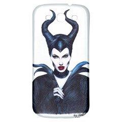 Maleficent Drawing Samsung Galaxy S3 S Iii Classic Hardshell Back Case by KentChua