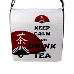 Keep Calm And Drink Tea   Asia Edition Flap Messenger Bag (l)  by RespawnLARPer