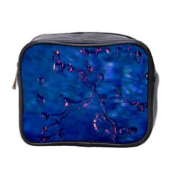 Dark Blue Waters With Hints Of Pink Mini Toiletries Bag 2 Side by timelessartoncanvas