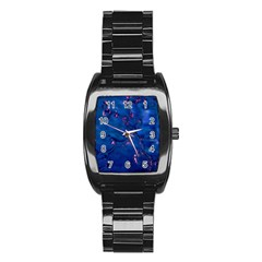 Dark Blue Waters With Hints Of Pink Stainless Steel Barrel Watch by timelessartoncanvas