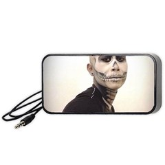 Halloween Skull And Tux  Portable Speaker (Black)  by KentChua