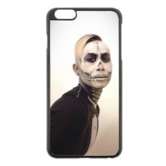 Halloween Skull And Tux  Apple Iphone 6 Plus/6s Plus Black Enamel Case by KentChua