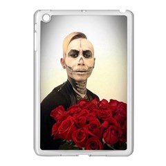 Halloween Skull Tux And Roses  Apple iPad Mini Case (White) by KentChua