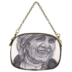 Mother Theresa  Pencil Drawing Chain Purses (two Sides)  by KentChua