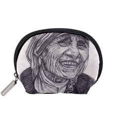 Mother Theresa  Pencil Drawing Accessory Pouches (small)  by KentChua