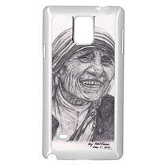 Mother Theresa  Pencil Drawing Samsung Galaxy Note 4 Case (white) by KentChua