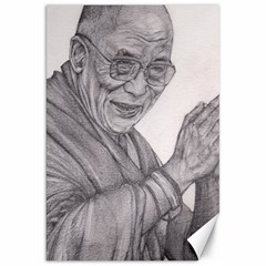 Dalai Lama Tenzin Gaytso Pencil Drawing Canvas 20  x 30   by KentChua