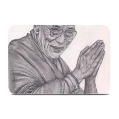 Dalai Lama Tenzin Gaytso Pencil Drawing Plate Mats by KentChua