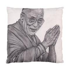 Dalai Lama Tenzin Gaytso Pencil Drawing Standard Cushion Cases (two Sides)  by KentChua