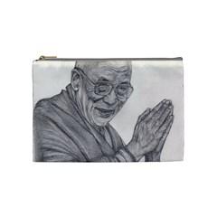 Dalai Lama Tenzin Gaytso Pencil Drawing Cosmetic Bag (medium)  by KentChua