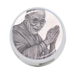 Dalai Lama Tenzin Gaytso Pencil Drawing 4-Port USB Hub (Two Sides)  by KentChua