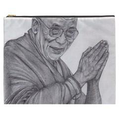 Dalai Lama Tenzin Gaytso Pencil Drawing Cosmetic Bag (XXXL)  by KentChua