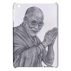 Dalai Lama Tenzin Gaytso Pencil Drawing Apple Ipad Mini Hardshell Case by KentChua