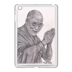 Dalai Lama Tenzin Gaytso Pencil Drawing Apple Ipad Mini Case (white) by KentChua