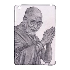Dalai Lama Tenzin Gaytso Pencil Drawing Apple iPad Mini Hardshell Case (Compatible with Smart Cover) by KentChua