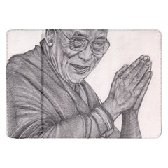 Dalai Lama Tenzin Gaytso Pencil Drawing Samsung Galaxy Tab 8 9  P7300 Flip Case by KentChua