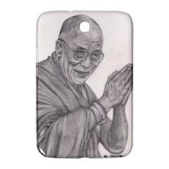 Dalai Lama Tenzin Gaytso Pencil Drawing Samsung Galaxy Note 8 0 N5100 Hardshell Case  by KentChua