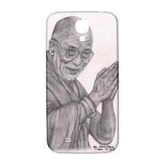 Dalai Lama Tenzin Gaytso Pencil Drawing Samsung Galaxy S4 I9500/i9505  Hardshell Back Case by KentChua
