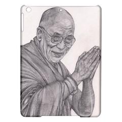 Dalai Lama Tenzin Gaytso Pencil Drawing iPad Air Hardshell Cases by KentChua