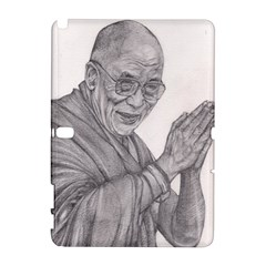 Dalai Lama Tenzin Gaytso Pencil Drawing Samsung Galaxy Note 10 1 (p600) Hardshell Case by KentChua