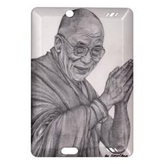 Dalai Lama Tenzin Gaytso Pencil Drawing Kindle Fire Hd (2013) Hardshell Case by KentChua