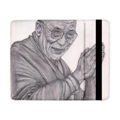 Dalai Lama Tenzin Gaytso Pencil Drawing Samsung Galaxy Tab Pro 8.4  Flip Case by KentChua