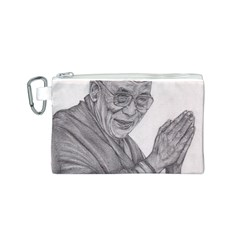 Dalai Lama Tenzin Gaytso Pencil Drawing Canvas Cosmetic Bag (s) by KentChua