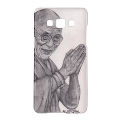 Dalai Lama Tenzin Gaytso Pencil Drawing Samsung Galaxy A5 Hardshell Case  by KentChua