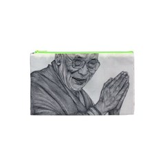 Dalai Lama Tenzin Gaytso Pencil Drawing Cosmetic Bag (xs) by KentChua