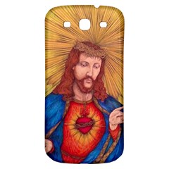 Sacred Heart Of Jesus Christ Drawing Samsung Galaxy S3 S Iii Classic Hardshell Back Case by KentChua