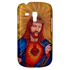 Sacred Heart Of Jesus Christ Drawing Samsung Galaxy S3 Mini I8190 Hardshell Case by KentChua