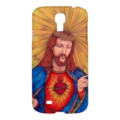 Sacred Heart Of Jesus Christ Drawing Samsung Galaxy S4 I9500/i9505 Hardshell Case by KentChua