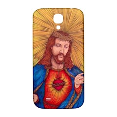 Sacred Heart Of Jesus Christ Drawing Samsung Galaxy S4 I9500/i9505  Hardshell Back Case by KentChua